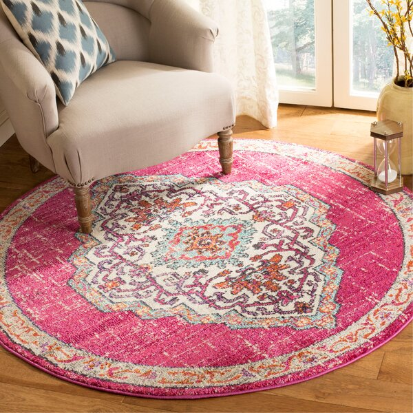 Ezekiel Pink Area Rug by Bungalow Rose