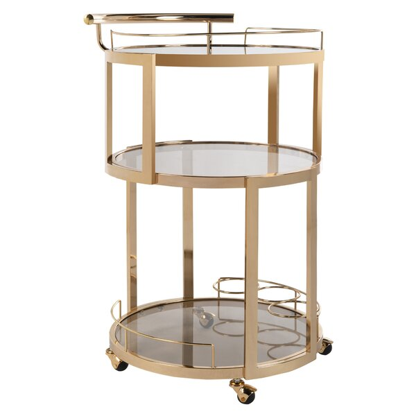 Cudney Wine Rack Bar Cart by Mercer41