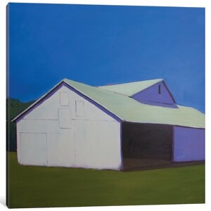 'Lonely Barn' Painting Print on Canvas by East Urban Home