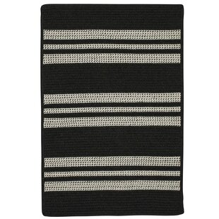 Buy clear Neponset Hand-Woven Black Indoor/Outdoor Area Rug ByDarby Home Co
