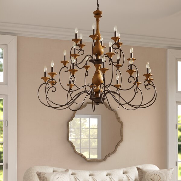 Turcot 24-Light Candle Style Tiered Chandelier by Lark Manor Lark Manor