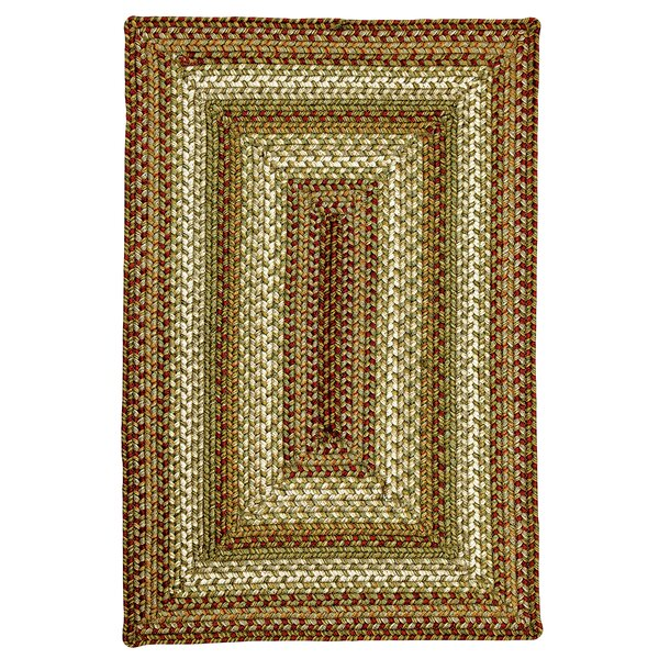 Winter Wheat Green Indoor/Outdoor Area Rug by Homespice Decor