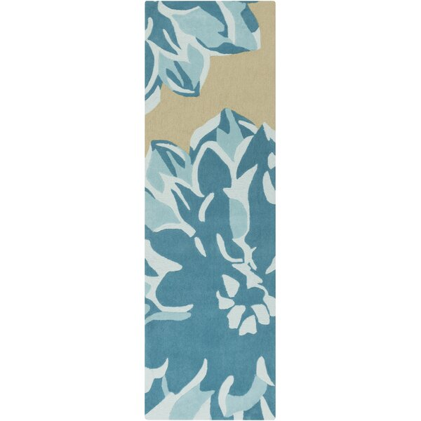Butner Hand-Tufted Beige/Blue Area Rug by Latitude Run