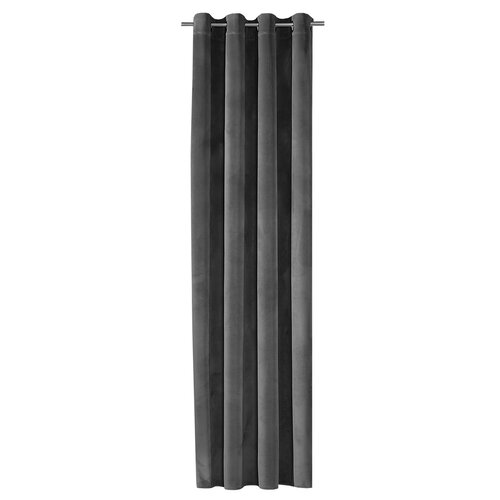 Epernay Eyelet Semi Sheer Thermal Curtain Ebern Designs Colour: Dark Grey