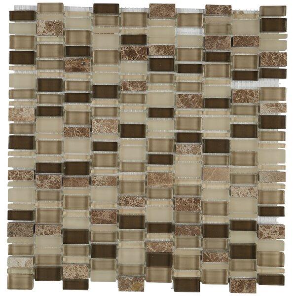 Clio Random Sized Glass Mosaic Tile in Selene by Daltile