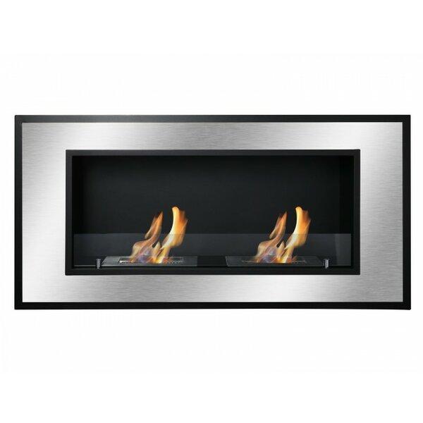 Farhin Recessed Wall Mounted Ethanol Fireplace By Orren Ellis