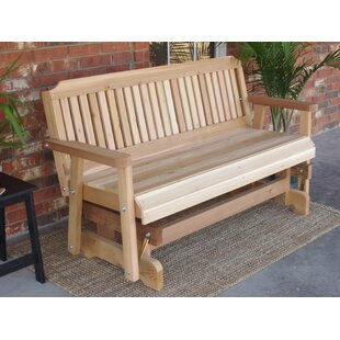Courtney Cedar Glider Bench Millwood Pines Looking for