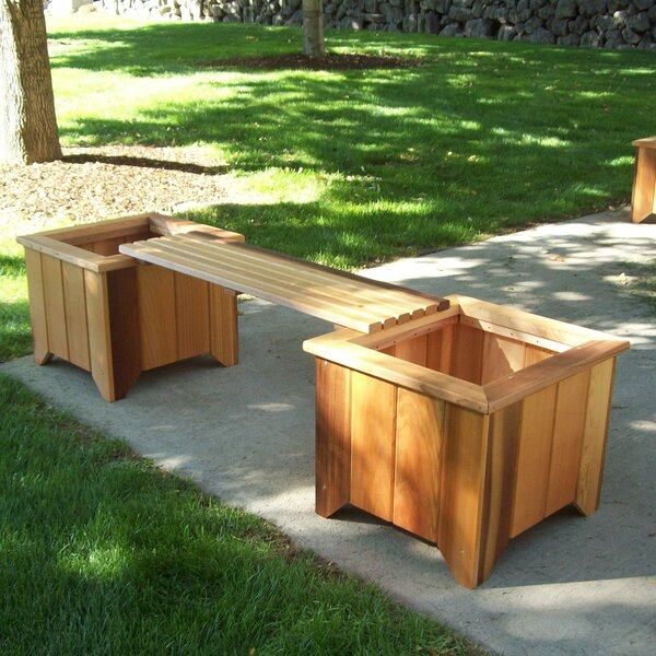 Wood Planter Bench by Wood Country Wood Country