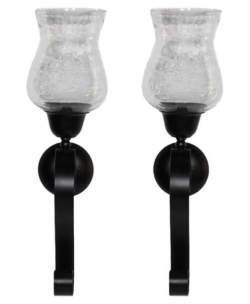 Washington Glass/Metal Sconce (Set of 2) by ESSENTIAL DÉCOR & BEYOND, INC