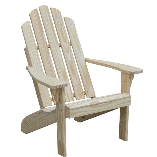 Rivale Wood Adirondack Chair by Highland Dunes Highland Dunes