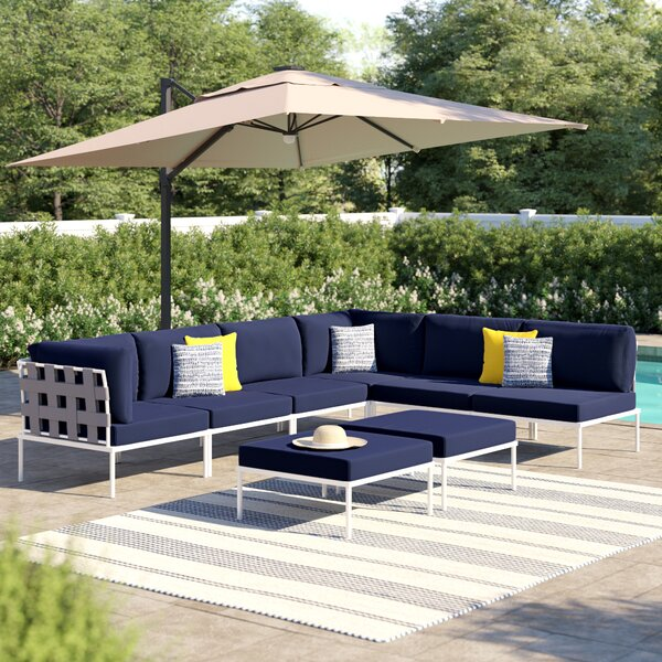 Darnell Outdoor Patio Sectional with Cushions by Brayden Studio