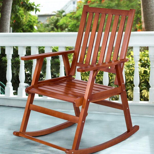 Sizemore Wood Rocking Chair by Bay Isle Home