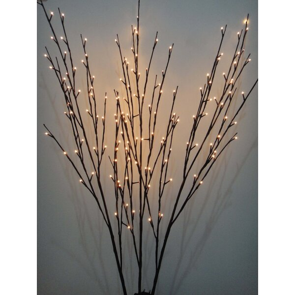 Floral 144 Light Willow Branch by The Holiday Aisle