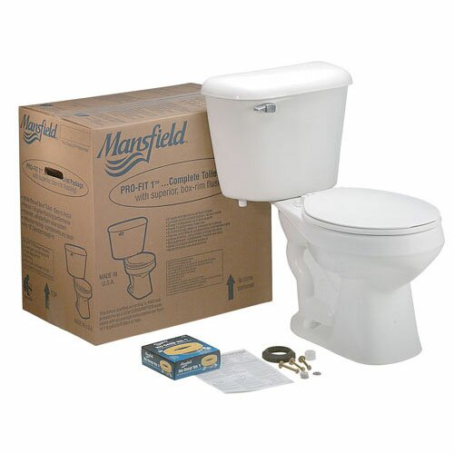 Pro-Fit 3 ADA Complete 1.6 GPF Elongated Two-Piece Toilet by Mansfield Plumbing Products