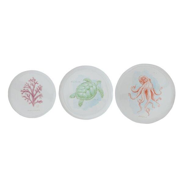 Nhat 3 Piece Enameled Tin Decorative Plate Set by Highland Dunes