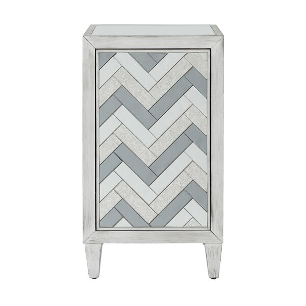 Mattea 1 Door Accent Cabinet by Bungalow Rose Bungalow Rose
