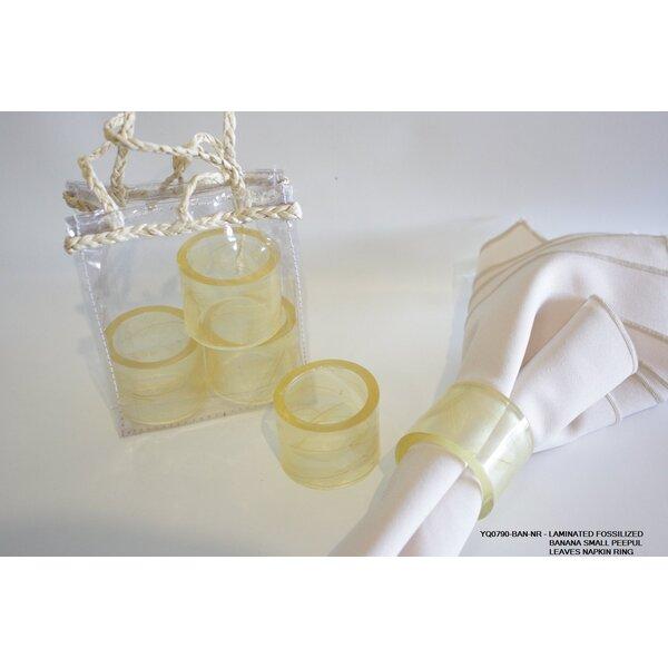 Peepul Leaves Napkin Ring (Set of 6) by Desti Design