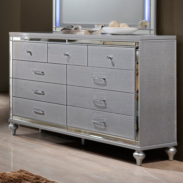 Merriweather Luxe Bedroom 6 Drawer Double Dresser by House of Hampton
