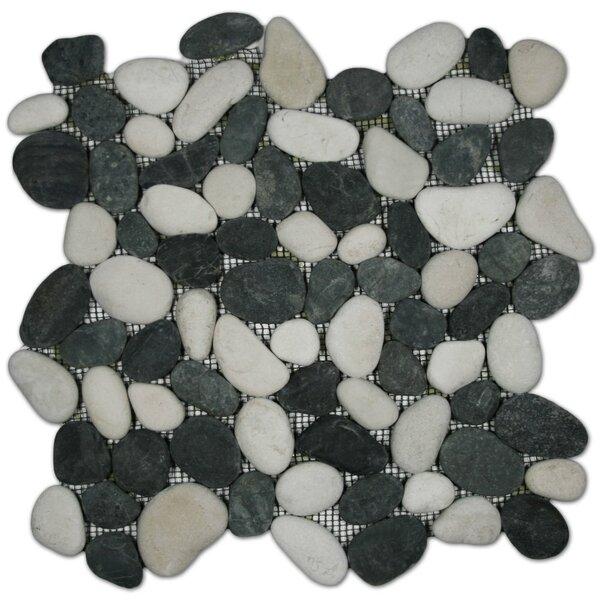 Ottawa Random Sized Natural Stone Mosaic Tile in Black/White by CNK Tile
