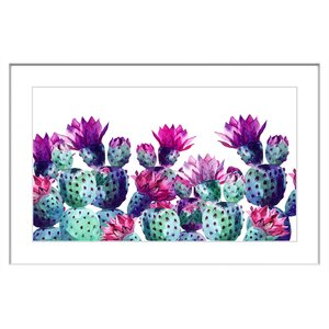 'Dancing Pineapples' Framed Painting Print by Marmont Hill