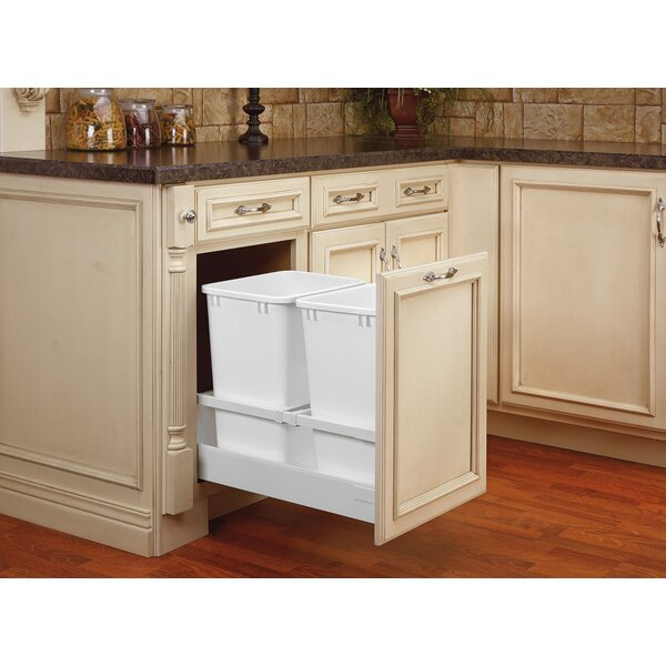 Double 8.75 Gallon Tandem Pullout Trash Cans by Rev-A-Shelf