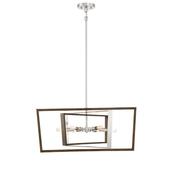 Krantz 6 - Light Unique / Statement Square / Rectangle Chandelier by Wrought Studio Wrought Studio