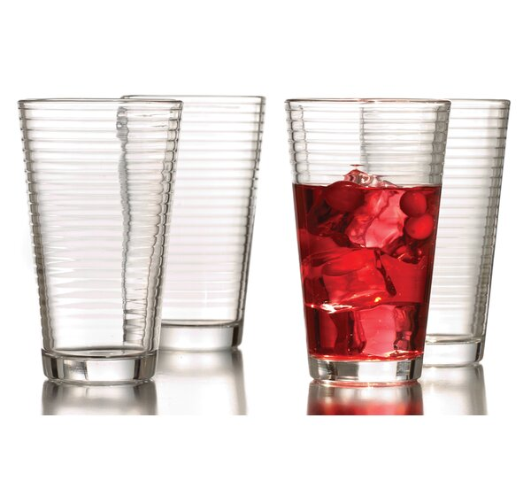 Uptown 16 oz. Glass (Set of 4) by Style Setter