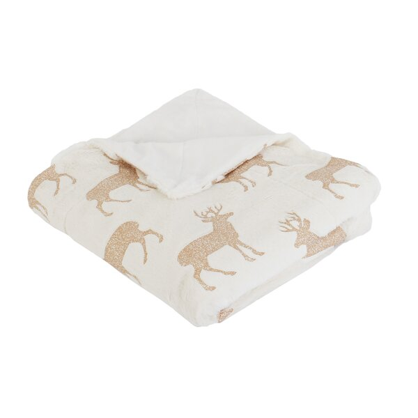 Diehl Foil Printed Faux Fur Throw by The Holiday Aisle