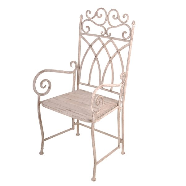 Aged Metal Carver Patio Dining Chair by EsschertDesign