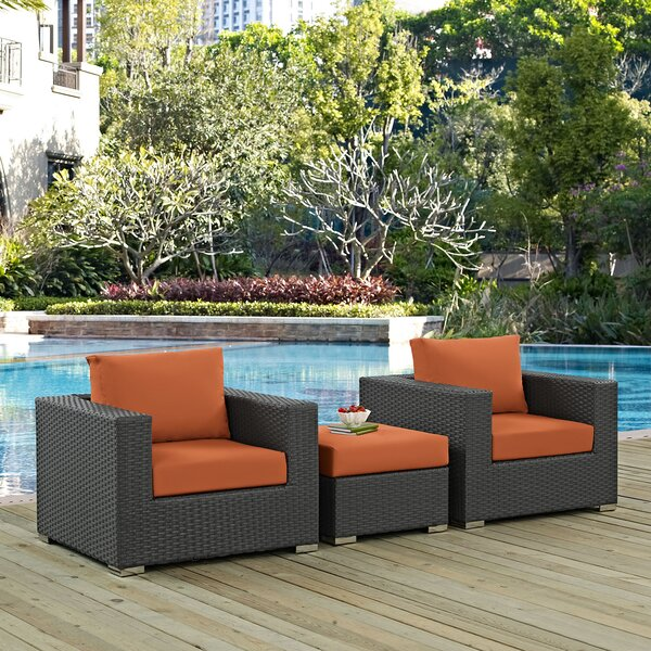 Tripp 3 Piece Sunbrella Sofa Set with Cushions by Brayden Studio