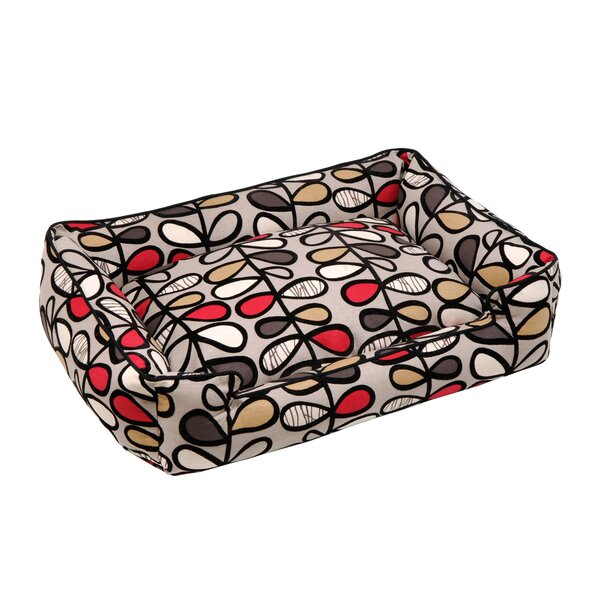 Vines Lounge Bolster Pet Bed by Jax & Bones