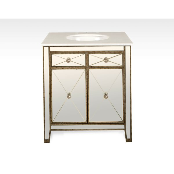Chenai 30 Calacatta Marble Single Bathroom Vanity Set by Everly Quinn