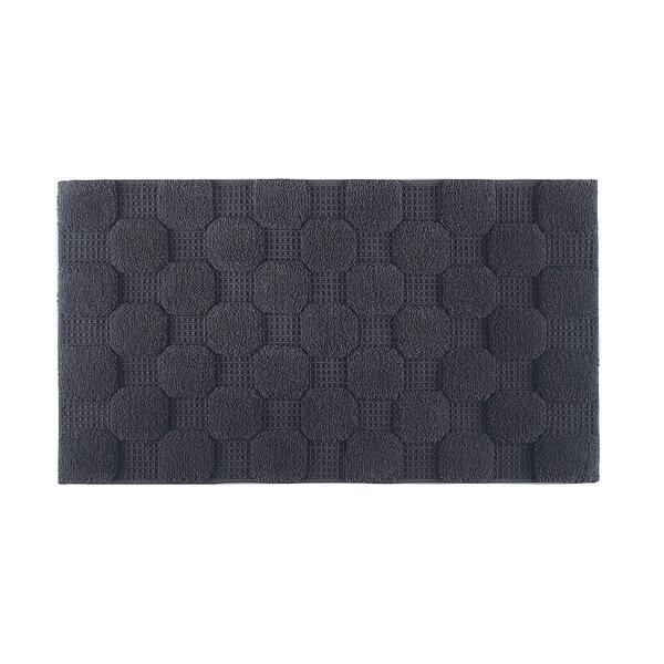 Hizer Chess 100% Cotton Non-Slip Geometric Bath Rug