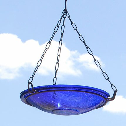 Crackle Wrought Iron Hanging Birdbath by ACHLA