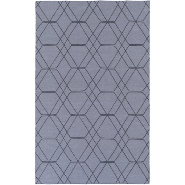 Robin Hand-Woven Medium Gray/Pale Blue Area Rug by Charlton Home