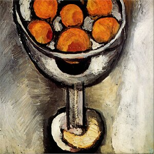 A Vase with Oranges by Henri-Matisse Painting Print on Canvas by Wrought Studio