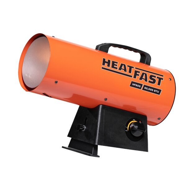Propane Forced Air Utility Heater With Thermostat By HeatFast