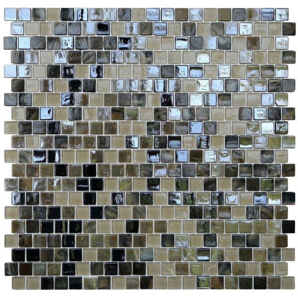 Opal 0.63 x 0.63 Glass Mosaic Tile in Tortoise Shell by Kellani