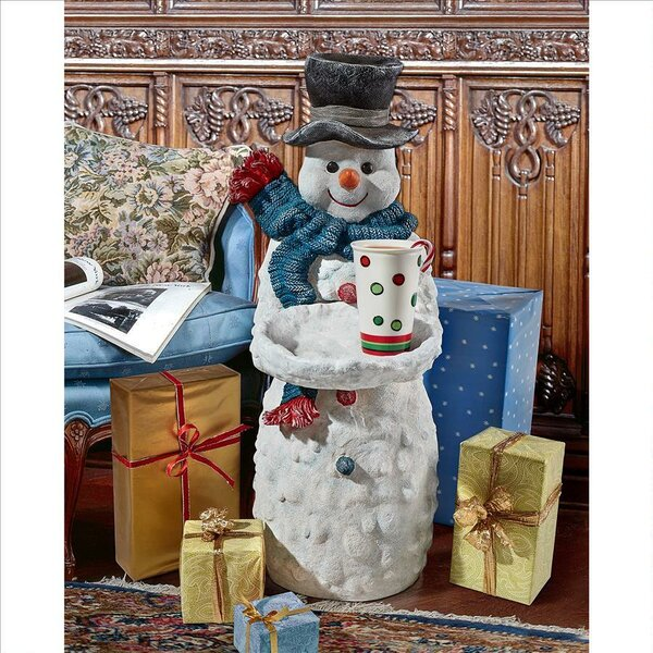 Flurry the Snowman Butler End Table by Design Toscano