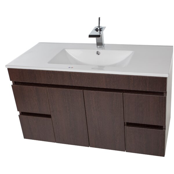 Lofland 41 Wall-Mounted Single Bathroom Vanity Set by Ivy Bronx