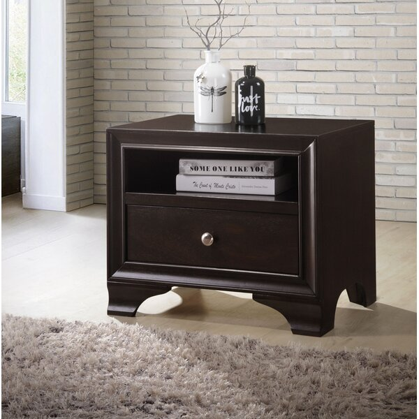 Bellburns 1 Drawer Night Table by Winston Porter