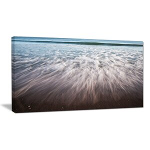Ocean Beach Water Motion - Seashore Photographic Print on Wrapped Canvas by Design Art