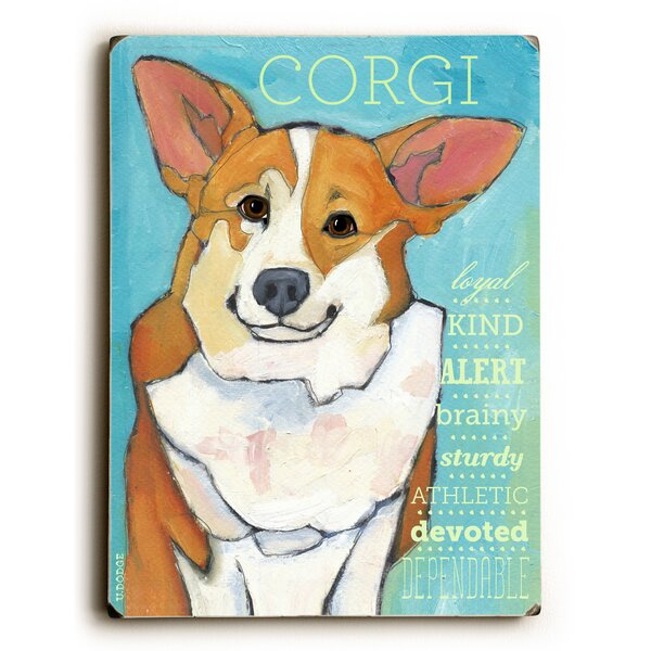 Corgi Graphic Art by Artehouse LLC