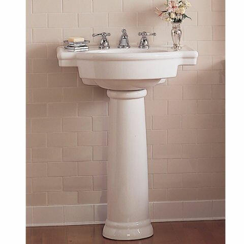 Retrospect Ceramic 27 Pedestal Bathroom Sink with Overflow by American Standard