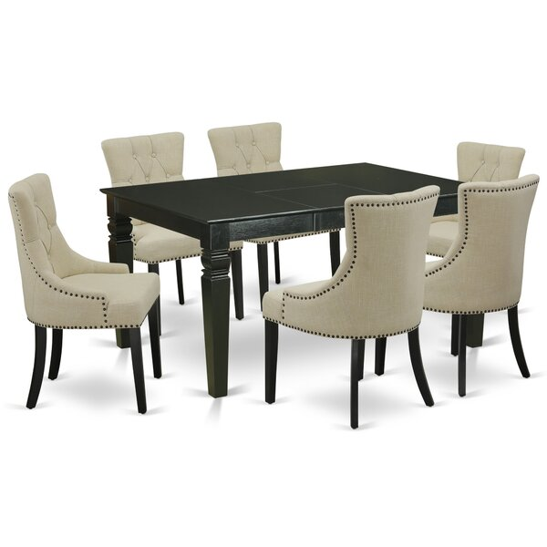 Mclemore 7 Piece Extendable Solid Wood Dining Set by Canora Grey Canora Grey