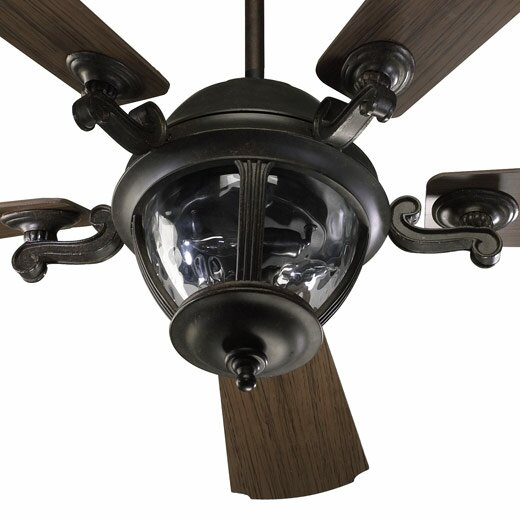 52 Westbrook 5-Blade Patio Ceiling Fan with Remote by Quorum
