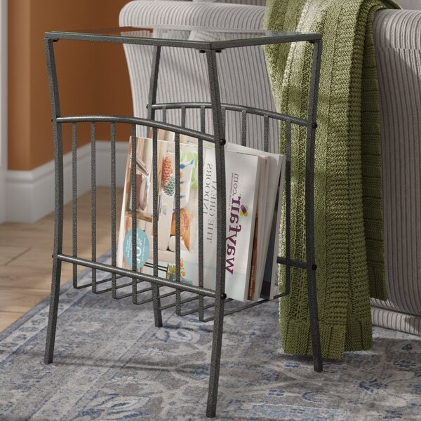 Ellyn End Table with Magazine Storage by Three Posts