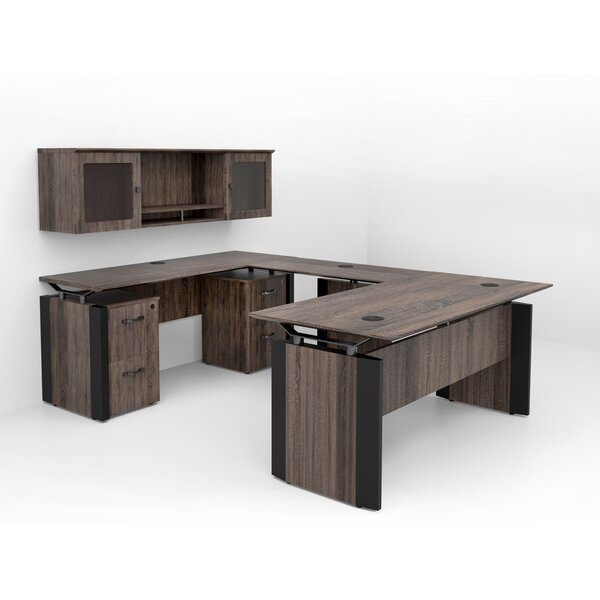 Allure Reversible U-Shaped Desk with Hutch