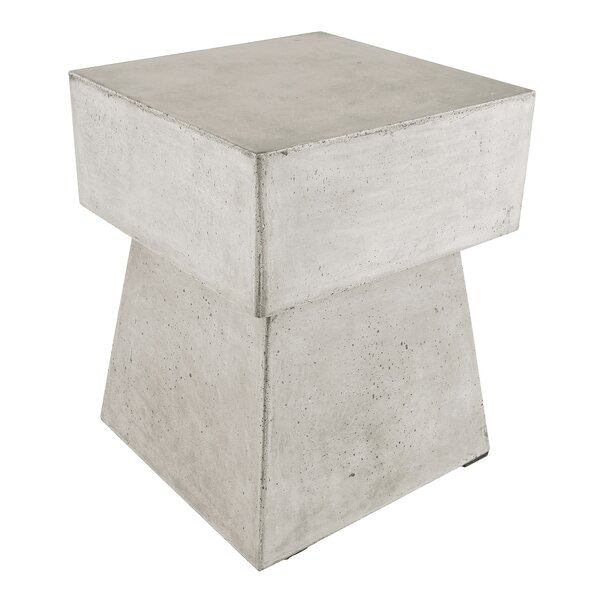 Framingham Waxed Concrete Stool by Williston Forge