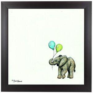 Nursery Elephant Framed Painting Print by East Urban Home